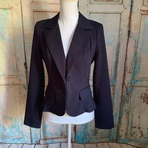 "Dark blue blazer sleeve length 25"""
